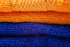Colored cotton towels Royalty Free Stock Photos