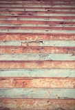 Colored cracked stairs.Useful as background Royalty Free Stock Images