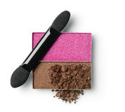 Colored crashed eyeshadow for makeup as sample of cosmetic product Stock Photos