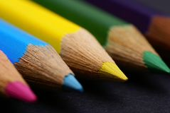 Colored crayon royalty free stock photography