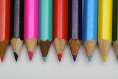 Colored crayon Stock Photo