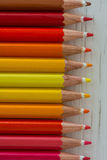 Colored crayon tips Royalty Free Stock Photography