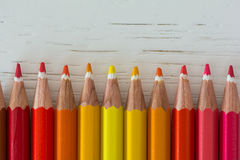 Colored crayon tips Royalty Free Stock Photos