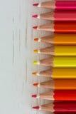 Colored crayon tips Stock Photos