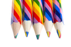 Colored crayon on white background Royalty Free Stock Images
