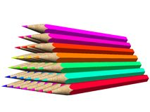 Colored crayons Royalty Free Stock Photo