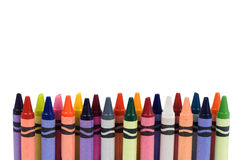 Colored crayons. Isolated on white background royalty free stock images