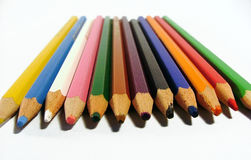 Colored crayons. Crayons royalty free stock photos