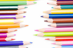 Colored crayons Stock Photography