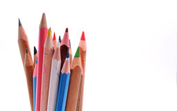 Colored crayons. A stack of divers colored crayons Stock Images