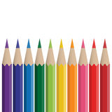Colored crayons Royalty Free Stock Photos