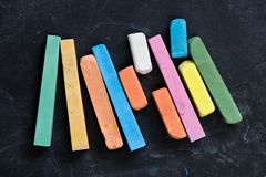 Colored crayons Stock Images