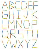 Colored Crayons Alphabet royalty free stock photography