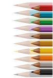 Colored crayons background. Or brief paper Royalty Free Stock Image