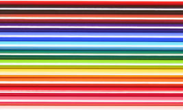 Colored crayons background Stock Photo