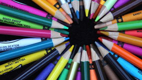 Colored Crayons Stock Photos