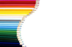 Colored crayons (isolated) Stock Photo