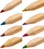 Colored Crayons Tips Stock Image