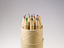 Colored crayons. To draw, in natural wood Royalty Free Stock Image