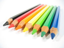 Colored Crayons VI. Colered wooden crayons royalty free stock photography
