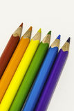 Colored crayons. On the white background, school Stock Image