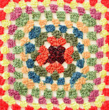 Colored crochet square Stock Images