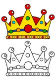 Colored crown with jewels Royalty Free Stock Photos