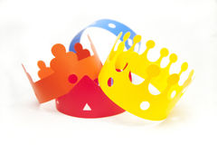 Colored crowns Royalty Free Stock Image