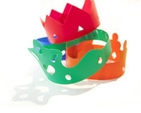 Colored crowns Stock Image
