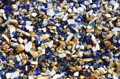 Colored crushed stones Stock Photography