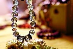 Colored crystal bracelet Stock Photos