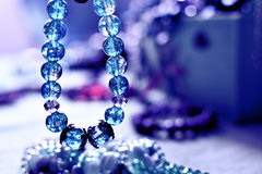 Colored crystal bracelet Royalty Free Stock Images