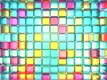 Colored cube Stock Images