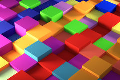 Colored cube Stock Photo