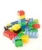 Colored cube play blocks Stock Photo