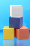 Colored Cubes Royalty Free Stock Images