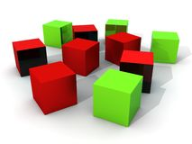 Colored cubes Stock Photography