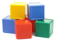 Colored cubes Royalty Free Stock Image