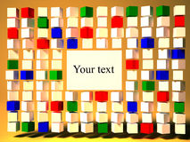Colored cubes. Rendered colored cubes with a sign for your text Stock Photography