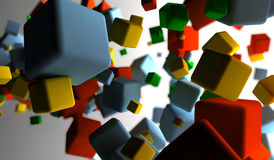 Colored cubes. Abstract background with many colored cubes Stock Illustration