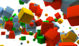 Colored cubes. Abstract background with many colored cubes Royalty Free Stock Photos