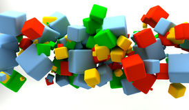 Colored cubes. Abstract background with many colored cubes Royalty Free Illustration