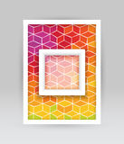 Colored cubes banner Stock Photo