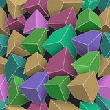 Colored cubes with bright edges Stock Photography