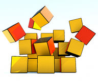 Colored cubes collapsible Royalty Free Stock Images