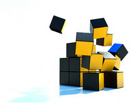 Colored cubes collapsible Royalty Free Stock Photos