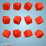 Colored cubes 3d Royalty Free Stock Image