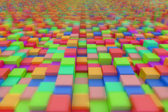 Colored cubes Stock Image