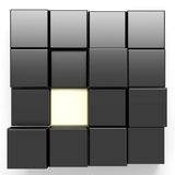 Colored cubes. 3d rendering with cubes black and white Royalty Free Illustration
