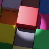 Colored cubes. 3d rendering with cubes of a lot of colors Royalty Free Stock Photography